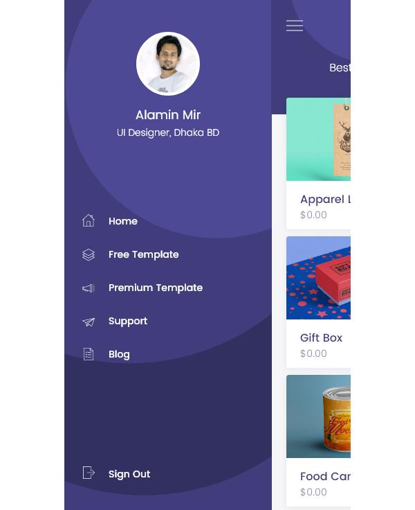 Free iOS UI PSD Templates
