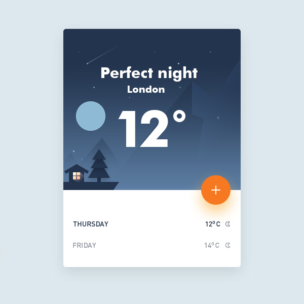 Free Weather UI Concept