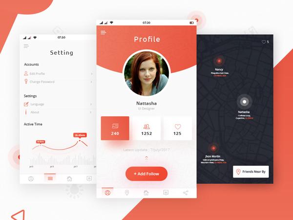 Freebies - Profile Settings Dashboard