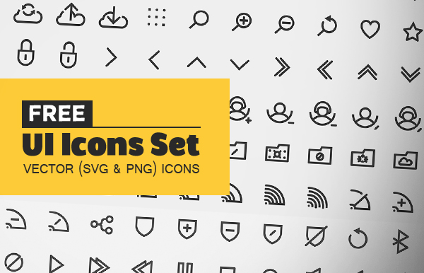 140+ Free Vector UI Icons (SVG)