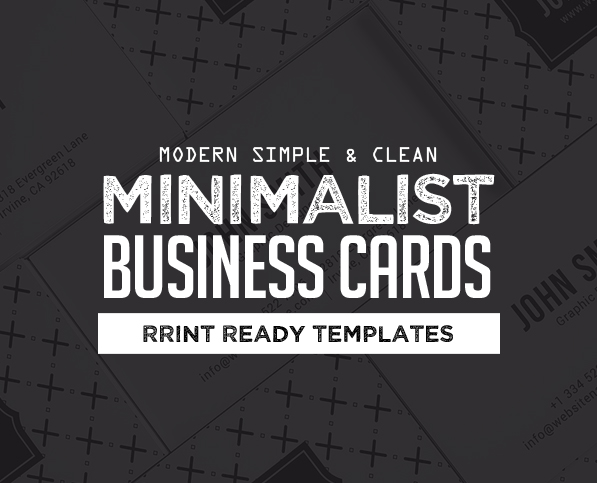 25 Minimal Clean Business Cards (PSD) Templates