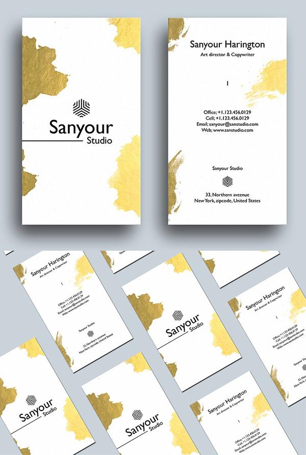 Modern Stylish Gold Business Card