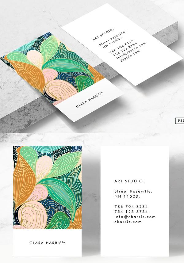 Swirly Art Business Card Tmeplate