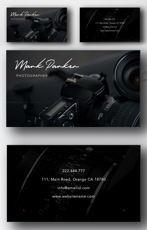 Photography professional card