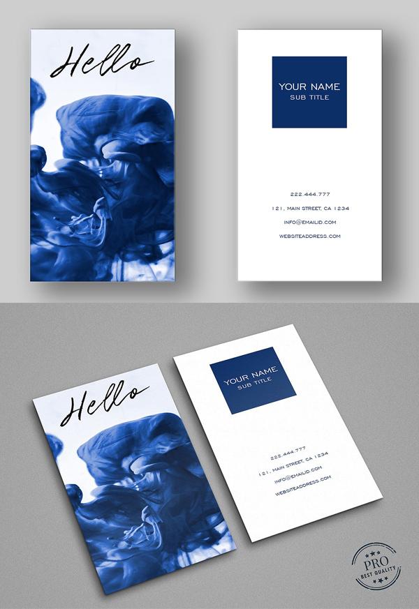 Blue Splash Cool Business Card