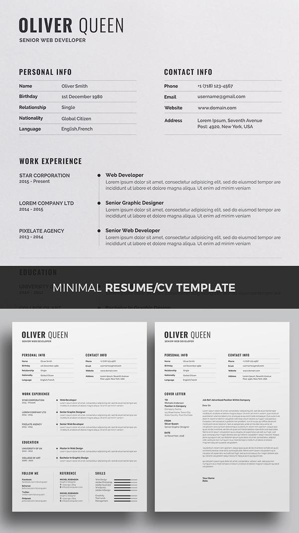 2018 Resume/CV Template