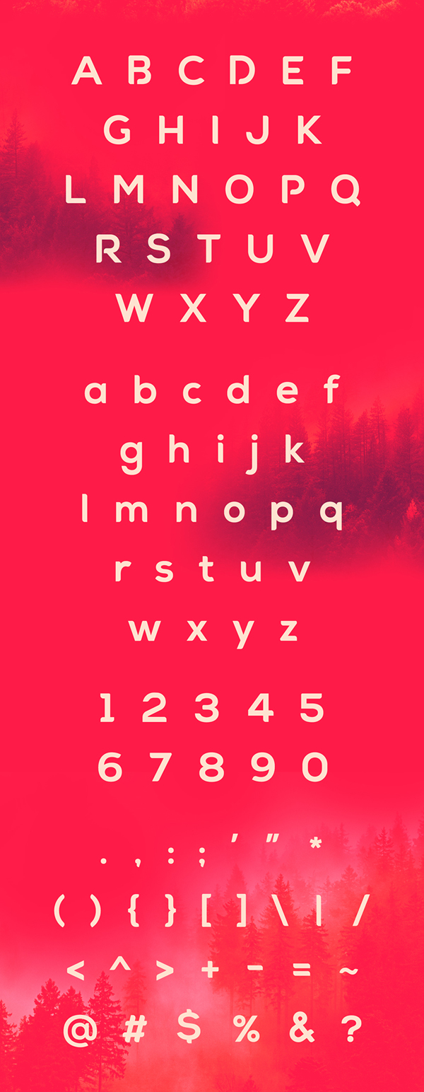 Arona font letters