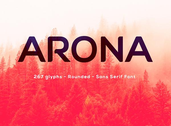 Arona free fonts
