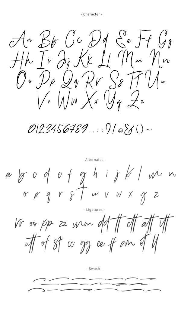 Bammantoe font letters