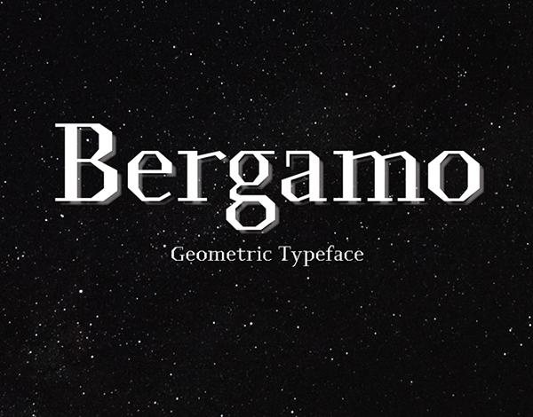 Bergamo free fonts