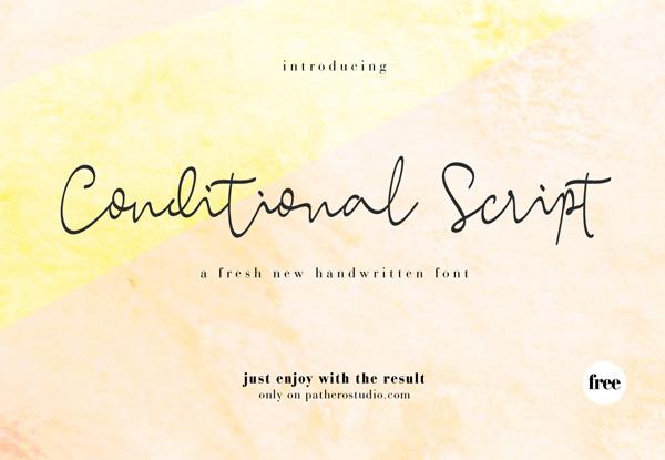 Conditional Script Free Font