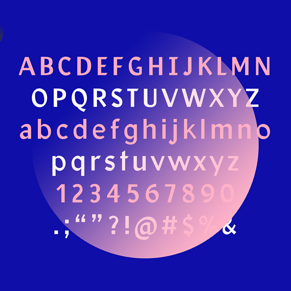 Facultad font letters