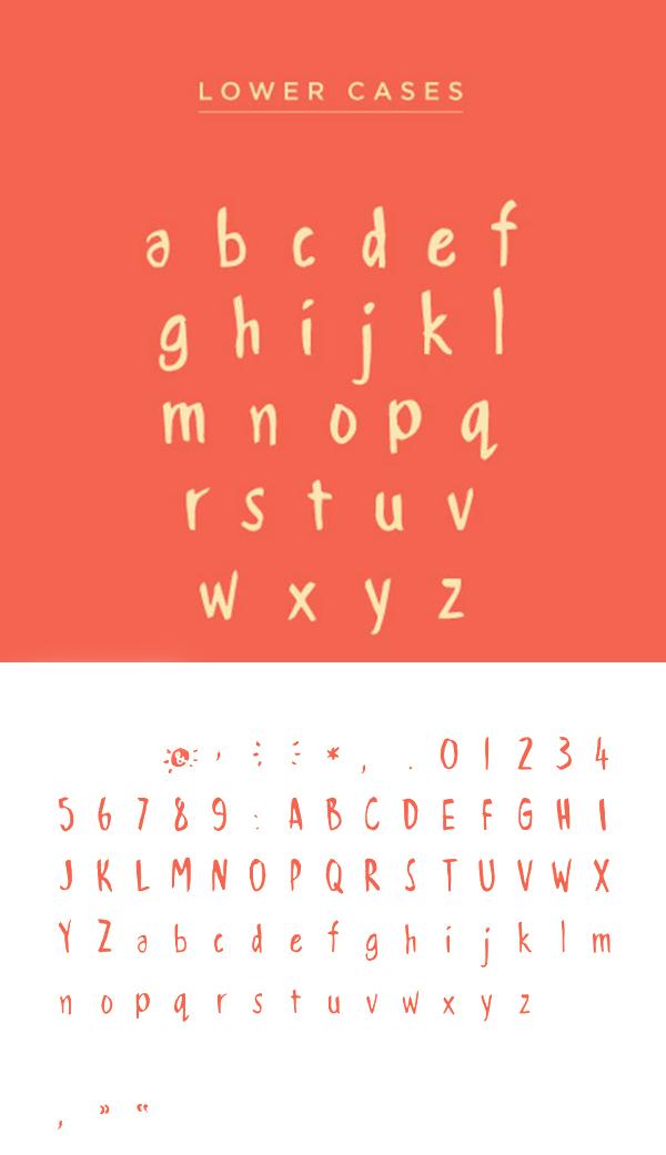 Handwritten Brush font letters