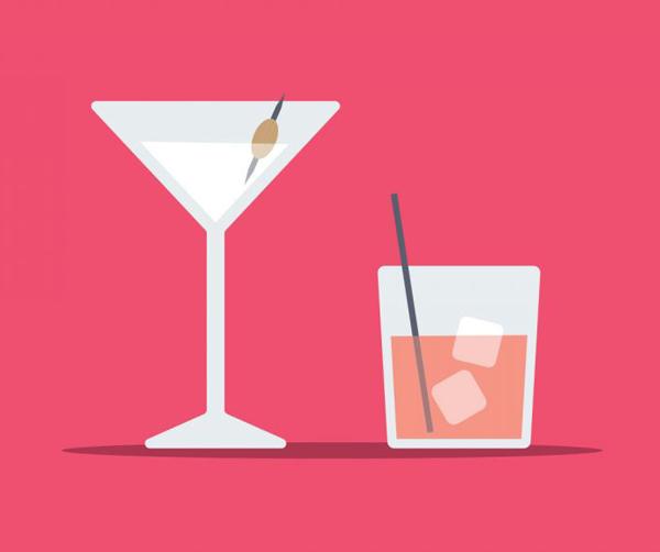 Create Flat Style Cocktail Glasses in Adobe Illustrator