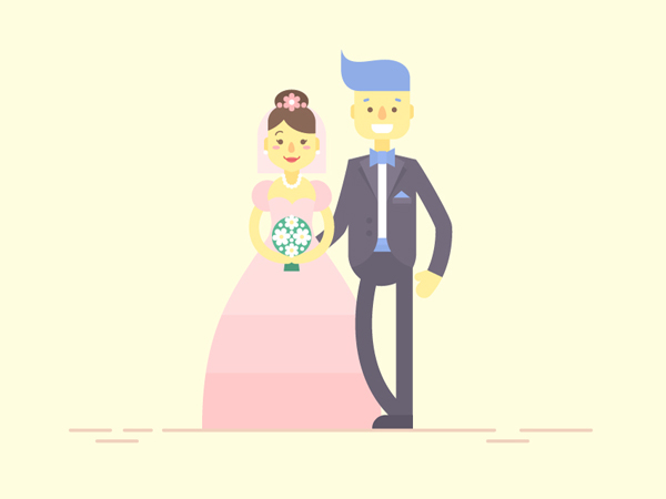How to Create Flat Bride & Groom Characters in Adobe Illustrator