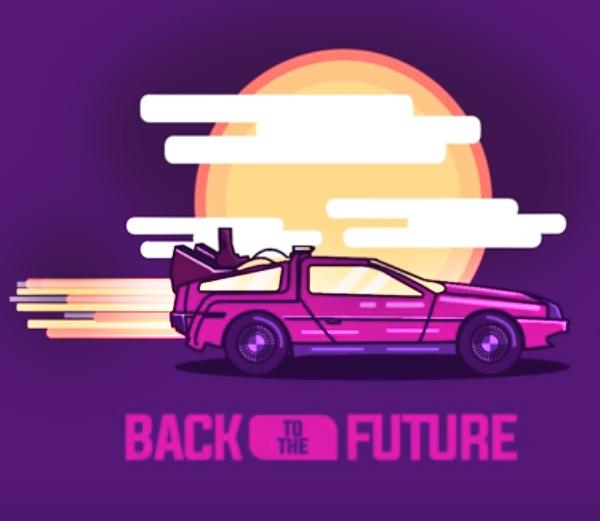 Create Back to the Future Illustration in Illustrator Tutorial