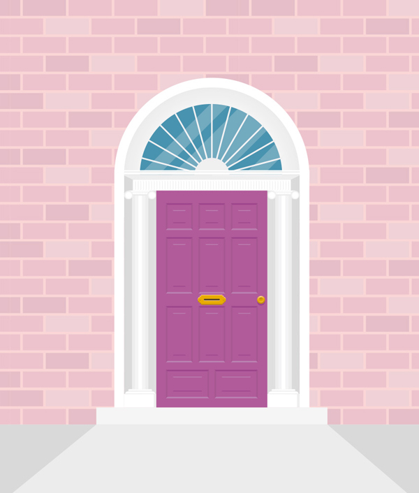 How to Create an Irish Door Illustration in Adobe Illustrator