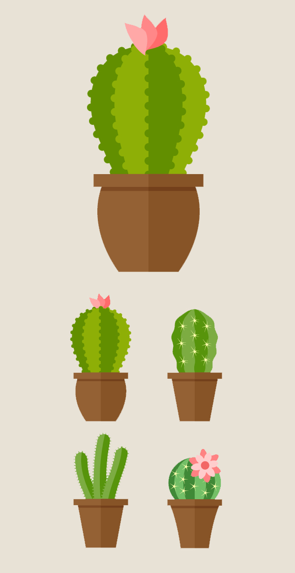 How to Create Vector Cacti in a Flat Style with VectorScribe