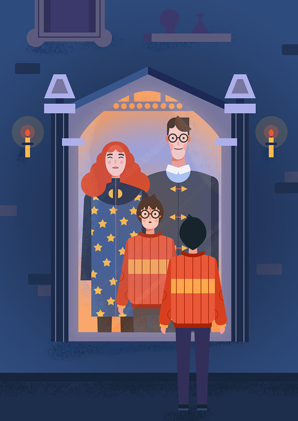 How to Create a Harry Potter and the Mirror of Erised Illustration in Adobe Photoshop