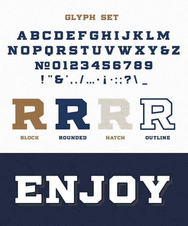 Stoneburg font letters