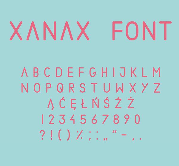 Xanax Geomatric sans-serif Free Font