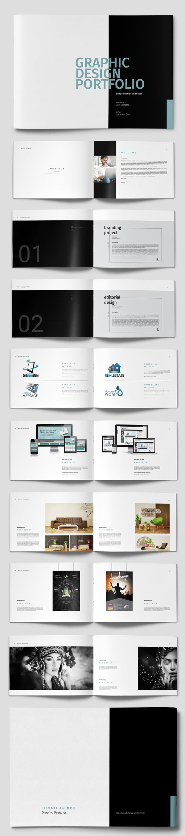 50+ Pages Graphic Design Portfolio Template