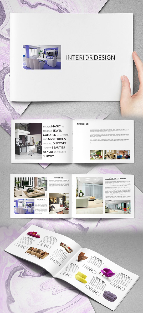 Simple Interior Catalog Brochure Template
