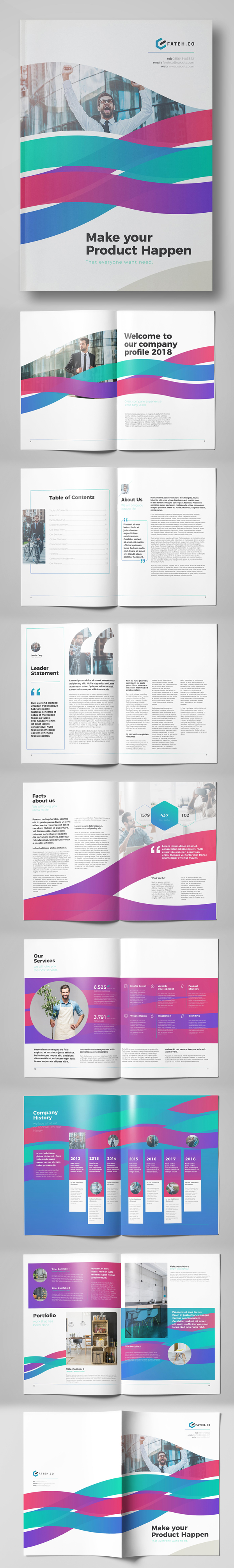 100 Professional Corporate Brochure Templates - 40