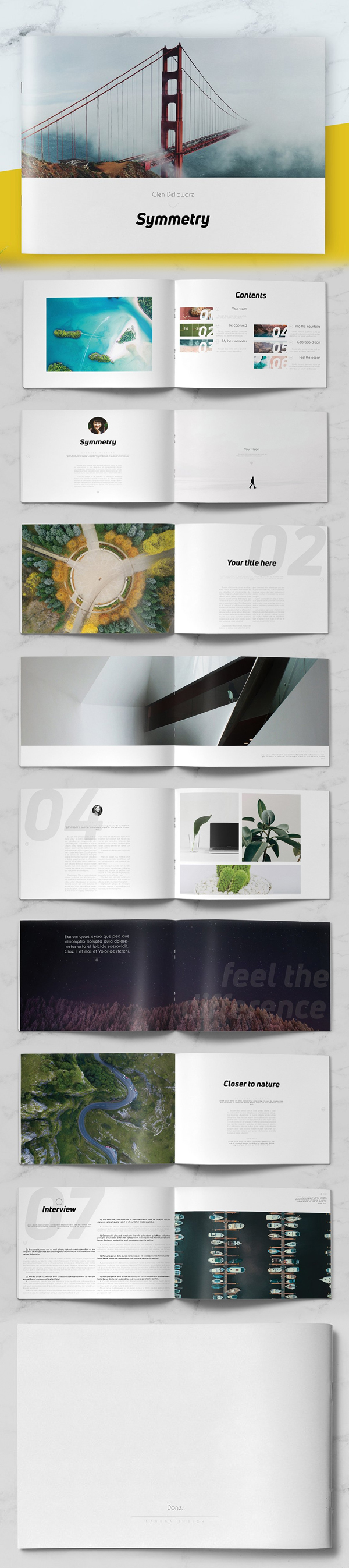 Minimal Photography / Portfolio Brochure Template
