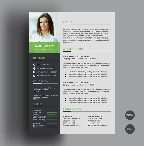 50 Free Resume Templates: Best Of 2018 -  1