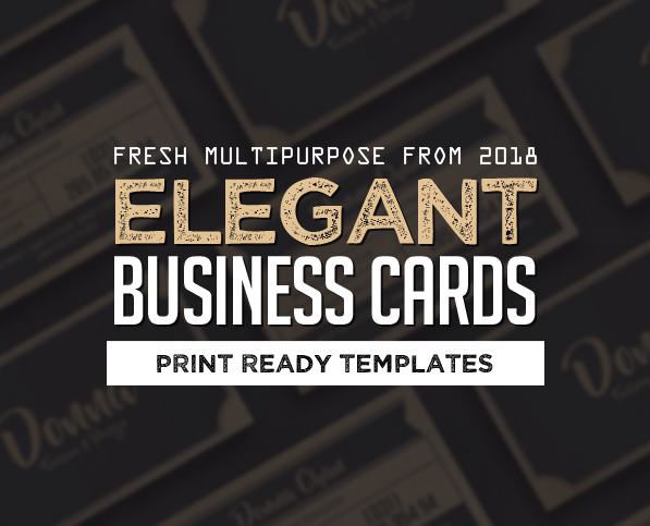 25 Elegant Business Cards (PSD) Templates