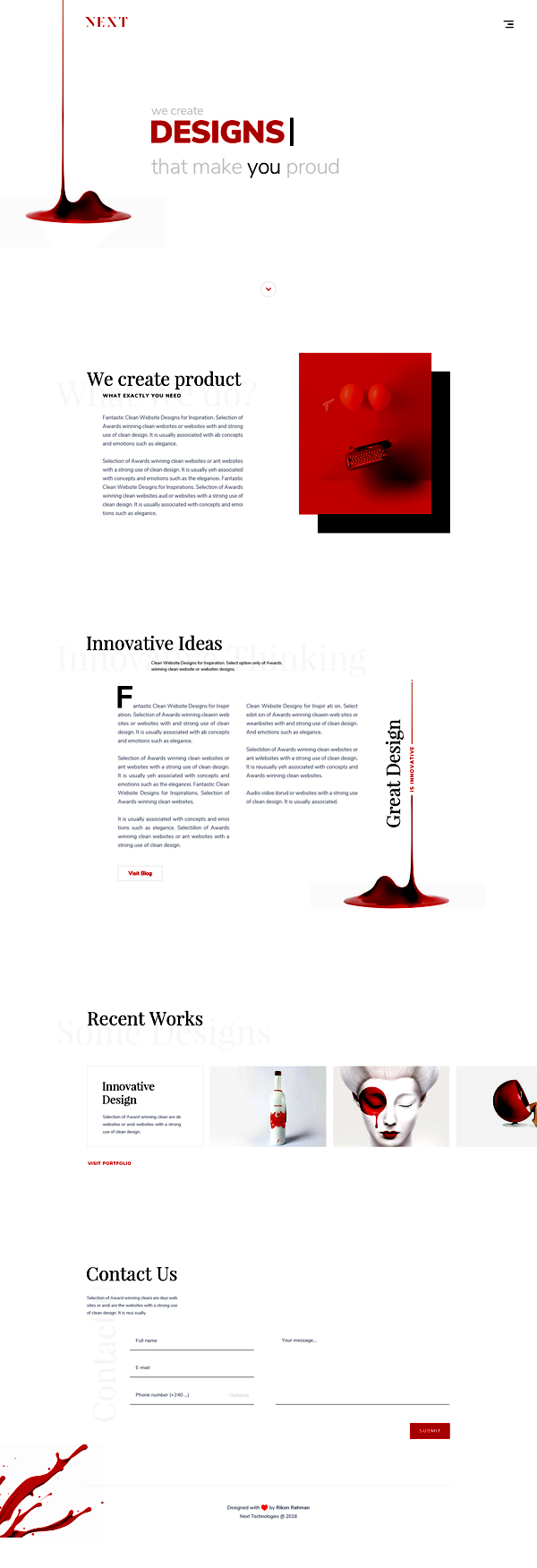 Freebie: Agency Landing Page Design