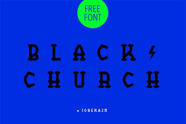 BlackChurch Free Font