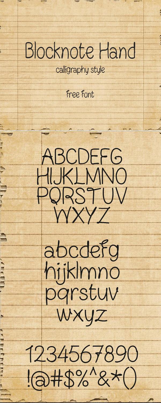 Freebie: Blocknote Hand Font
