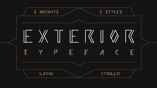 Exterior Free Font