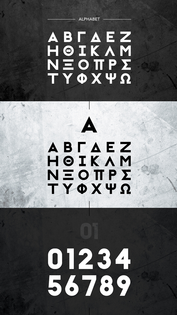 Initiation Ritual Free Font Letters and Numbers