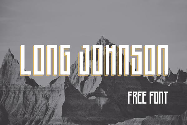 Long Johnson Free Font