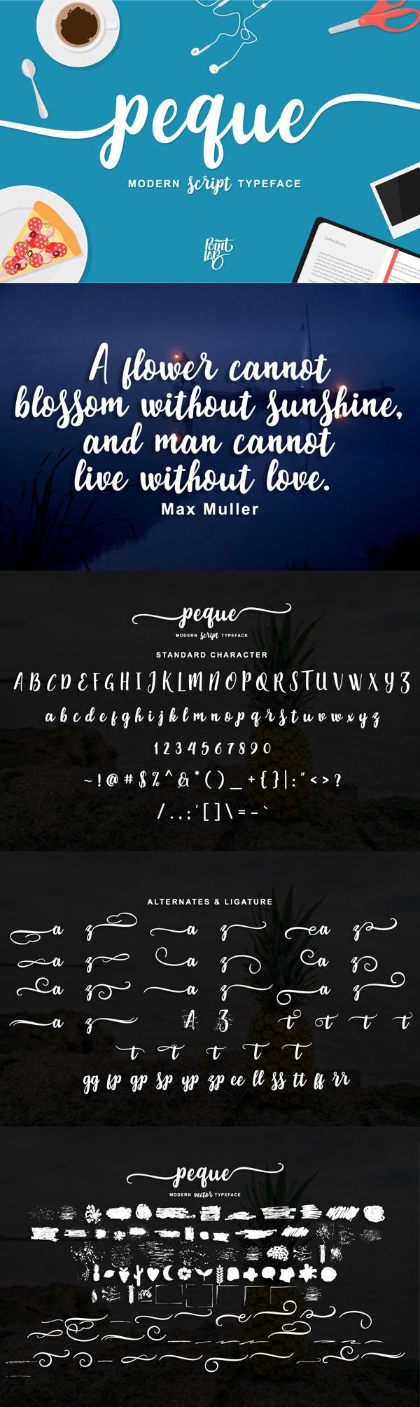 Peque Script Free Font