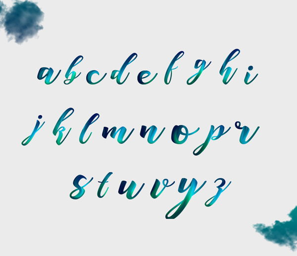 Space Free Font Letters and Numbers