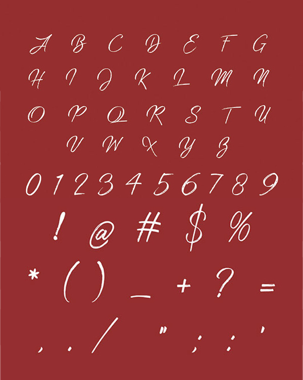 Strain Free Font Letters