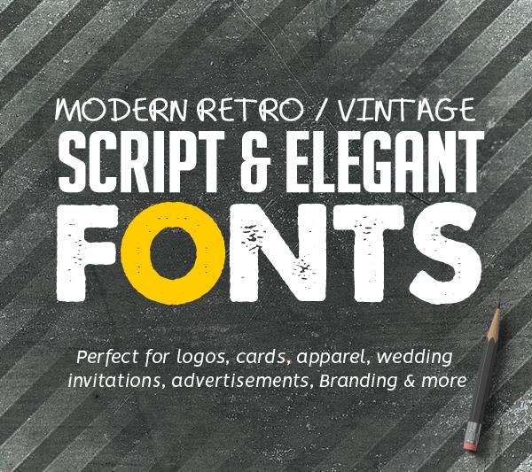 Best Retro / Vintage Script Fonts for Designers