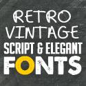 Post thumbnail of Best Retro / Vintage Script Fonts for Designers