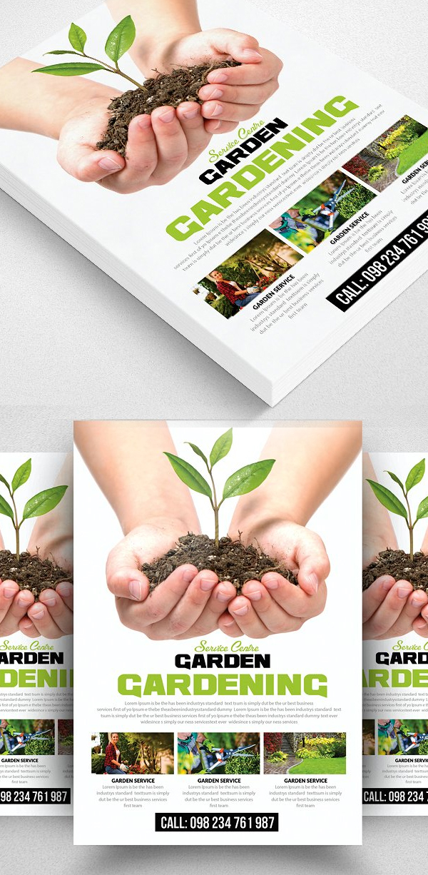 Grow Your Plants Service Flyer Template