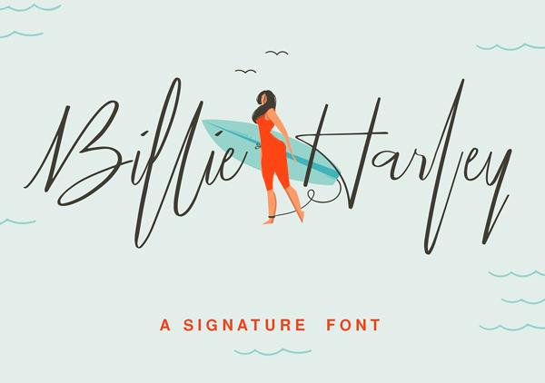 Billie Harley Signature Font