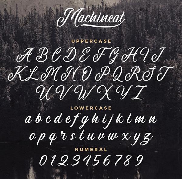 Machineat Handpainted Font