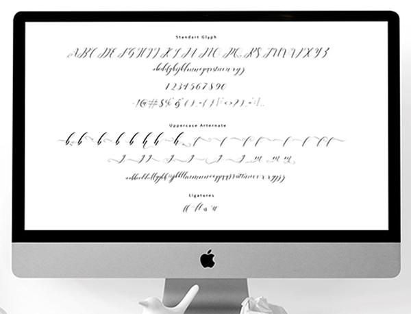 Right side Srcipt Font