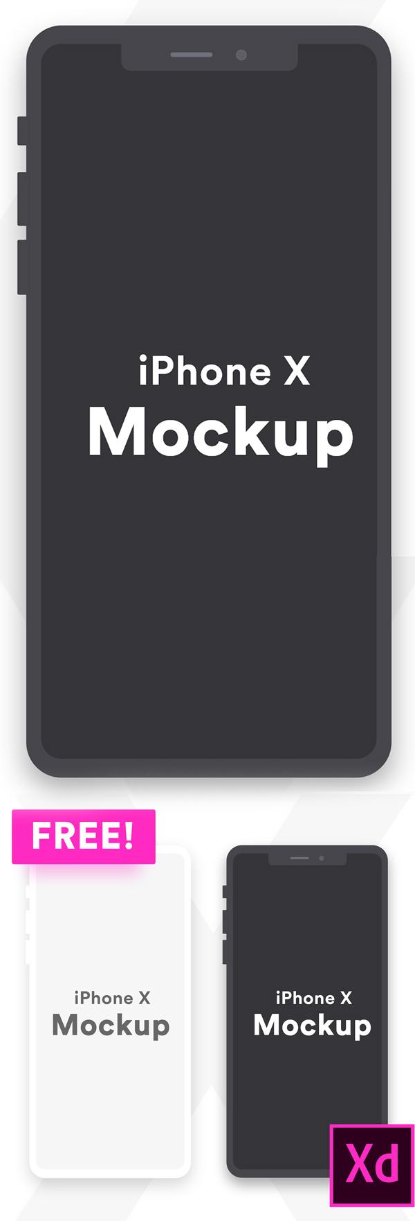 Freebie: iPhone X Minimal Clay Mockup
