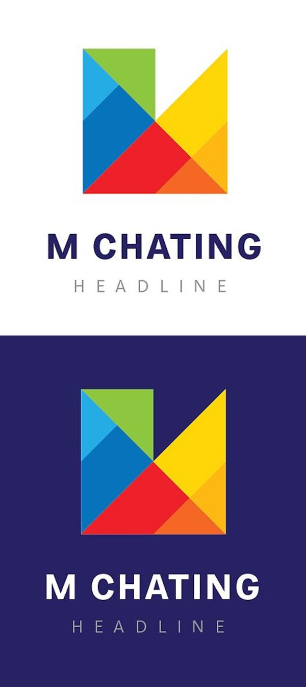 M chating logo