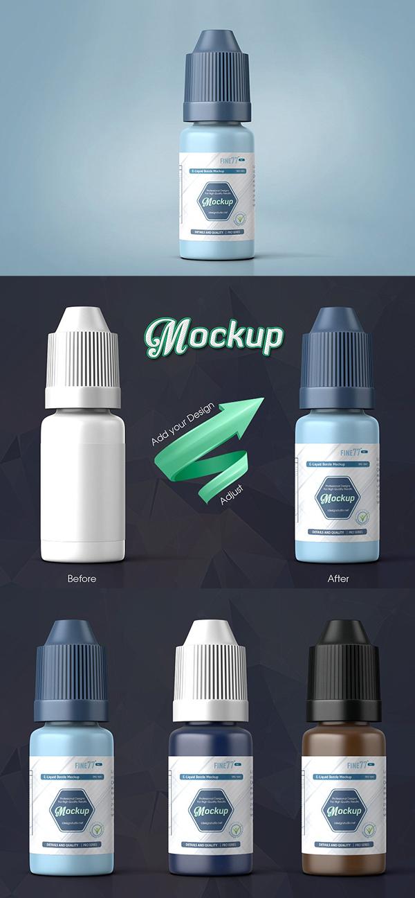 E-liquid Bottle Mockup