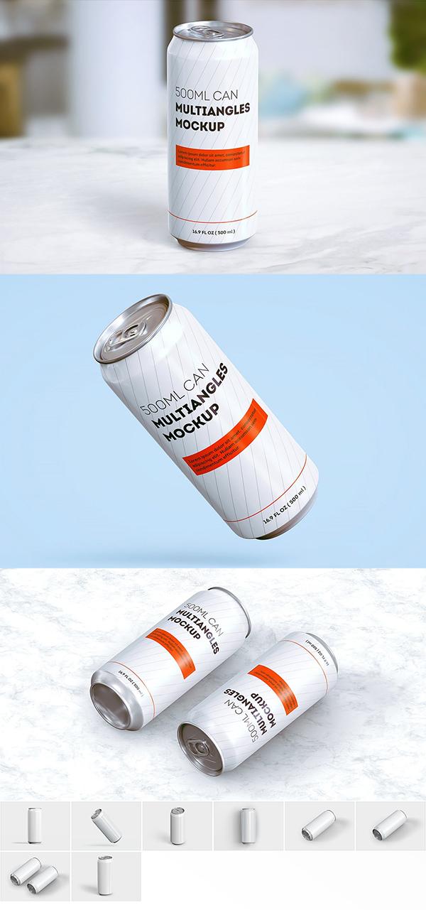 Slim Can Mockup (500 ml)